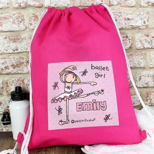 Personalised Bang On The Door Ballet Dancer Kit Bag